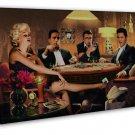 Marilyn Monroe James Dean Elvis Presley Playing Poker Funny Art 20x16 FRAMED CAN