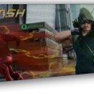 The Flash And Arrow Tv Series Art Wall 16x12 Framed Canvas Print