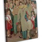 Norman Rockwell A Christmas Homecoming Fine Art 20x16 Framed Canvas Print
