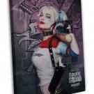 Harley Quinn Suicide Squad Movie Art Image 20x16 Framed Canvas Print