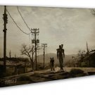 Fallout 3 Men And Dog Hot Game 20x16 Framed Canvas Print