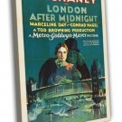 London After Midnight 1927 Vintage Movie FRAMED CANVAS Print