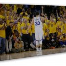 Stephen Curry NO 30 Golden State Warriors Basketball 20x16 FRAMED CANVAS Print