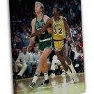 Larry Bird VS Magic Johnson Basketball Star Wall Decor 20x16 FRAMED CANVAS Print