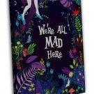 Alice In Wonderland Classic Cartoon Movie 20x16 FRAMED CANVAS Print