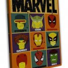 Superheroes Marvel Characters Image 20x16 Framed Canvas Print