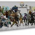 Overwatch Heroes New Game Genji Mercy Reaper 20x16 Framed Canvas Print