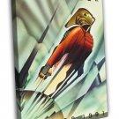 The Rocketeer 1991 Vintage Movie Framed Canvas Print