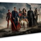 Justice League Superheroes Movie Batman Super Man 16x12 FRAMED CANVAS Print