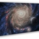 Outer Space Nasa Universe Galaxy Art Black Hole 20x16 FRAMED CANVAS Print