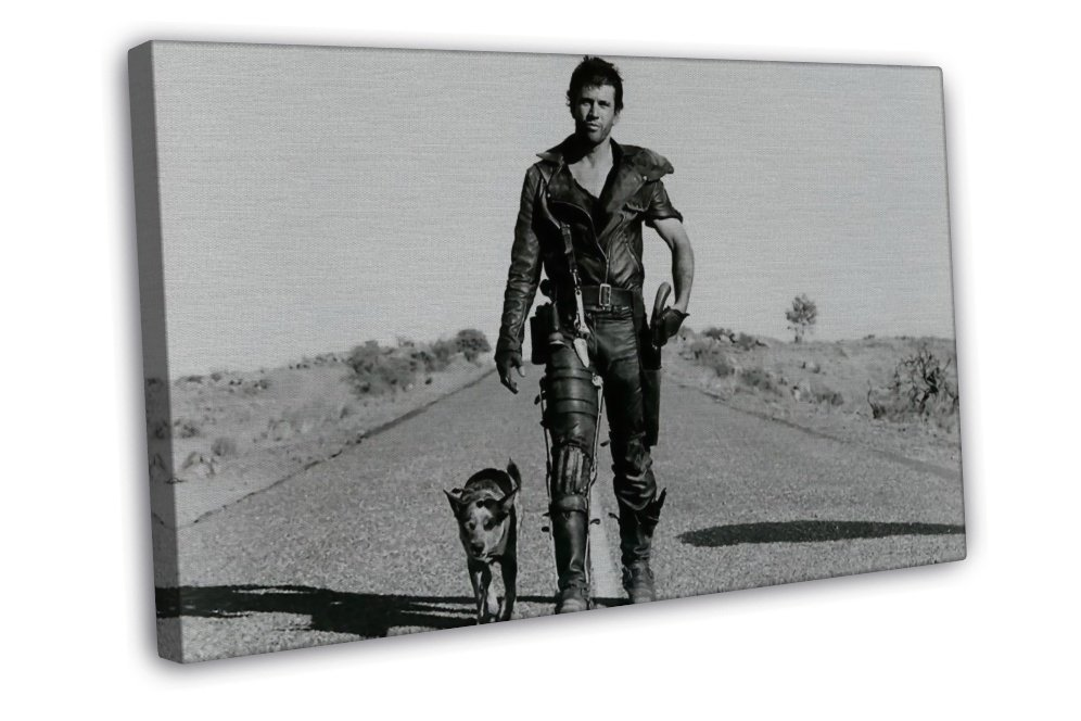 Mad Max Man And The Dog Classic Movie Art 20x16 Framed Canvas Print