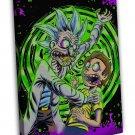 Rick And Morty Acid 20x16 Framed Canvas Print