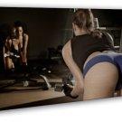 Bodybuilding Sexy Women Fitness Motivational 16x12 FRAMED CANVAS Print