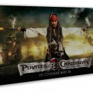 Pirates Of The Caribbean 1 2 3 Movie Wall Decor 20x16 Framed Canvas Print