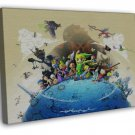 The Legend Of Zelda The Wind Waker Game 20x16 Framed Canvas Print