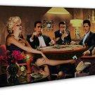 Marilyn Monroe James Dean Elvis Presley Humphrey Bogart Playing Card 16x12 FRAME