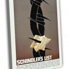Schindler S List By Saul Bass 1993 Vintage Movie FRAMED CANVAS Print