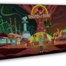 Rick And Morty Cartoon Anime 20x16 Framed Canvas Print