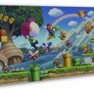 Super Mario Bros 3 Game Huge 20x16 Framed Canvas Print