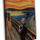 The Scream Deadpool Image 16x12 Framed Canvas Print