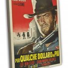 For A Few Dollars More 1965 Vintage Movie Framed Canvas Print