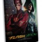 The Flash And Arrow Season 2 Tv Series 20x16 Framed Canvas Print