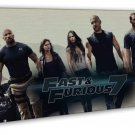 Fast And Furious 7 Hot Movie Wall Decor 16x12 FRAMED CANVAS Print
