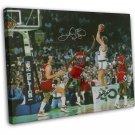 Michael Jordan Vs Larry Bird Basketball MVP Star 20x16 FRAMED CANVAS Print