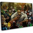 Marvel Superheroes Playing Poker Funny Spider Man She Hulk 20x16 FRAMED CANVAS P