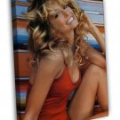 Farrah Fawcett Hollywood Actress Image 16x12 Framed Canvas Print