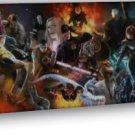 Superheroes Comic Anime Deadpool Wolverine Black Widow 16x12 FRAMED CANVAS Print
