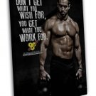 Crossfit Game Rich Froning Jr Bodybuilding Quote 16x12 FRAMED CANVAS Print