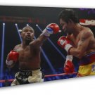 Manny Pacquiao VS Floyd Mayweather Art Boxing Sport 20x16 FRAMED CANVAS Print