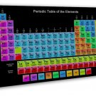Periodic Table Of The Elements Art 20x16 FRAMED CANVAS Print Decor