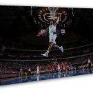 Allen Iverson Dunks Mvp Basketball Star 20x16 Framed Canvas Print