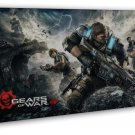 Gears Of War 4 New Game Wall 20x16 Framed Canvas Print