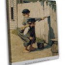Norman Rockwell Tom Sawyer Whitewashing The Fence Fine Art 20x16 Framed Canvas P