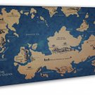 Game Of Thrones 1 2 3 Map Tv Wall Decor 16x12 Framed Canvas Print