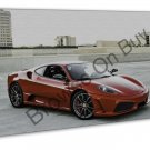 Red Ferrari 430 Sports Car Image 16x12 Framed Canvas Print
