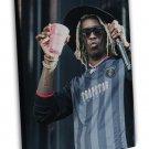 Young Thug Rap Music Hip Hop 20x16 Framed Canvas Print