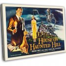 House On Haunted Hill 1959 Vintage Movie FRAMED CANVAS Print 4