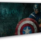 Captain America 2 The Winter Soldier Art 20x16 FRAMED CANVAS Print