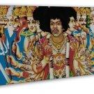 Jimi Hendrix Rock Music Star Psychedelic Trippy Art 20x16 FRAMED CANVAS Print
