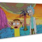 Rick And Morty Funny Humor 20x16 Framed Canvas Print