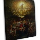 Gustave Dore The Triumph Of Christianity Fine Art 20x16 Framed Canvas Print