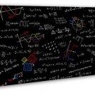 Mathematics Equations Science Education Art 16x12 FRAMED CANVAS Print