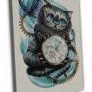 Cheshire Cat Alice In Wonderland Art Image 16x12 Framed Canvas Print