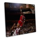 Michael Jordan Basketball Star Wall Decor 20x16 FRAMED CANVAS Print