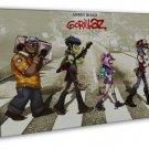 Gorillaz English Virtual Band Damon Albarn Jamie Hewlett 16x12 FRAMED CANVAS P
