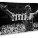 Arnold Schwarzenegger Conquer Motivational Bodybuilding 16x12 Framed Canvas Pr